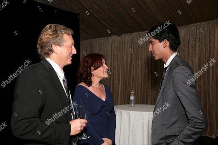 BAFTA/LA's Peter Morris & Rebecca Segal with Dev Patel