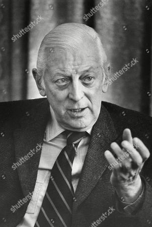 Alistair Cooke, British journalist, television personality, and broadcaster. March 19, 1974. -