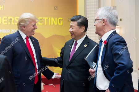 Chinese President Xi Jinping and US President Donald Trump at the APEC meeting in Danang, Vietnam. Sept. 11, 2017