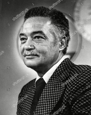 Coleman Young, Mayor of Detroit, Michigan (1974-1994). Photo dated 1977