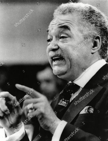 Coleman Young, Mayor of Detroit, Michigan (1974-1994). Photo dated 1980