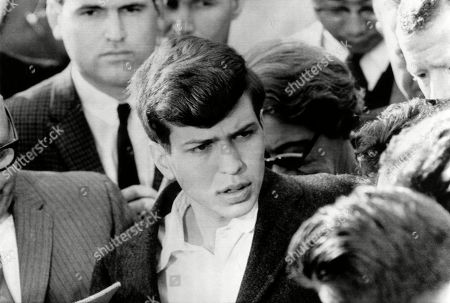 American singer and conductor Frank Sinatra Jr., after his father (Frank Sinatra) paid a ransom of 240,000 dollars to kidnappers to release him, December 11, 1963.
