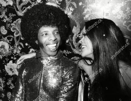 Sly Stone, of Sly & the Family Stone, and his wife, Kathy Silva, Circa 1974.