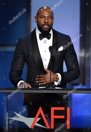 Antoine Fuqua addresses the audience during the 47th AFI Life Achievement Award ceremony honoring actor Denzel Washington at the Dolby Theatre, in Los Angeles