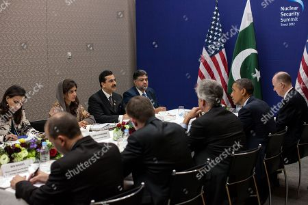 Nuclear Security Summit in Seoul, Republic of Korea. Meeting between Prime Minister Yousaf Raza Gillani of Pakistan and President Barack Obama, March 27, 2012.