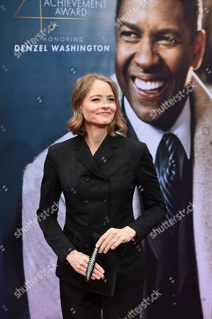 Jodie Foster arrives at the 47th AFI Life Achievement Award honoring Denzel Washington at the Dolby Theatre on in Los Angeles