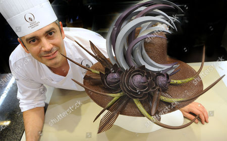Editorial image of Chocolate Chef Mark Tilling in competition at the Salon Du Chocolate in Paris, France - 14 Oct 2009