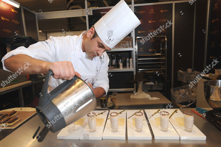 Editorial picture of Chocolate Chef Mark Tilling in competition at the Salon Du Chocolate in Paris, France - 14 Oct 2009