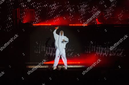 Watkin Tudor Jones of the South African rap-rave-band Die Antwoord performs on Park stage at the 'Rock im Park' festival in Nuremberg, Germany, 07 June 2019. The festival takes place from 07 to 09 June.
