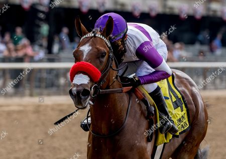 Elmont, NY, U.S. - , #4, Fore Left, ridden by jockey Mario Gutierrez, wins the Tremont on Belmont Stakes Festival Friday at Belmont Park in Elmont, New York. Scott Serio/Eclipse Sportswire/CSM