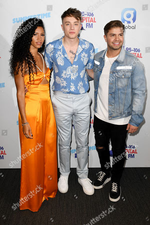 Vick Hope, Roman Kemp and Sonny Jay