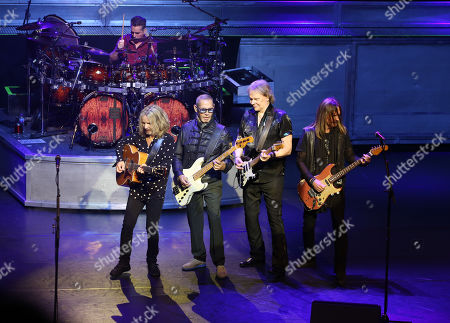 Stock Photo of Styx - Todd Sucherman (drums), Tommy Shaw, Chuck Panozzo, James Young, Ricky Phillips