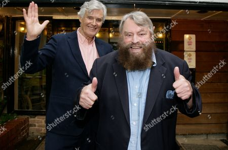 Simon Williams and Brian Blessed promote the Mills production of Singing In The Rain
