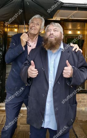 Simon Williams & Brian Blessed promote the Mills production of Singing In The Rain