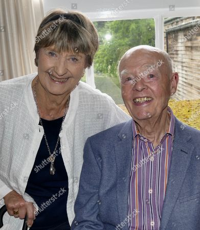 Stock Photo of Ray Cooney and wife Linda