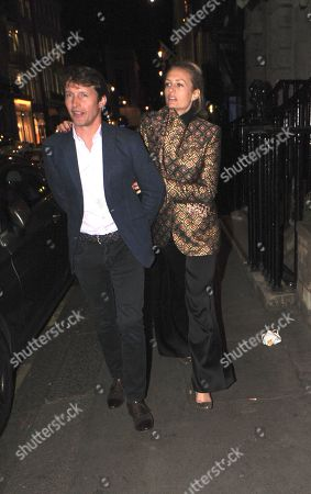 James Blunt and Sofia Wellesley leaving the Arts Club