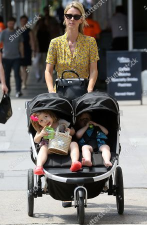 Stock Photo of Nicky Hilton Rothschild, Teddy Rothschild and Lily Grace Victoria Rothschild