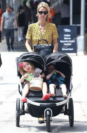 Stock Picture of Nicky Hilton Rothschild, Teddy Rothschild and Lily Grace Victoria Rothschild