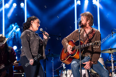 Ashley McBryde and Ronnie Dunn of musical duo Brooks and Dunn