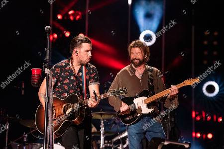 T.J. Osborne of Brothers Osborne and Ronnie Dunn of Brooks and Dunn
