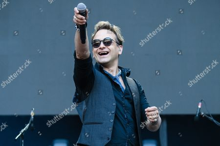 Stock Picture of Tim Howar performs with the band Mike and the Mechanics on stage as an opener for Phil Collins' 'Not Dead Yet' tour, in Berlin, Germany, 07 June 2019.