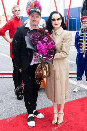 Stock Photo of Gery Keszler and Dita Von Teese