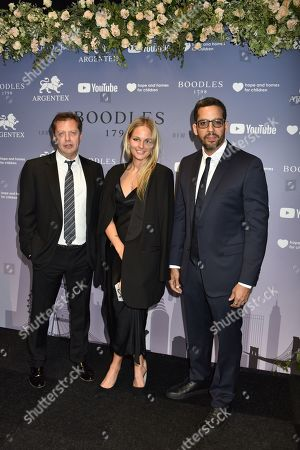 Stock Picture of Matthew Freud, Sophie Chartres and David Blaine