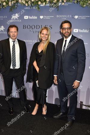 Matthew Freud, Sophie Chartres and David Blaine