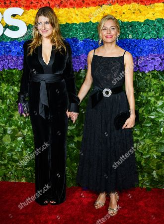 Stock Image of Tara Summers and Sienna Miller