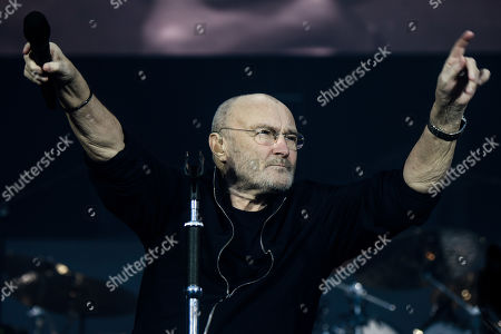 Phil Collins performs on stage during a concert in Berlin, Germany, 07 June 2019, as part of his 'Not Dead Yet' tour.