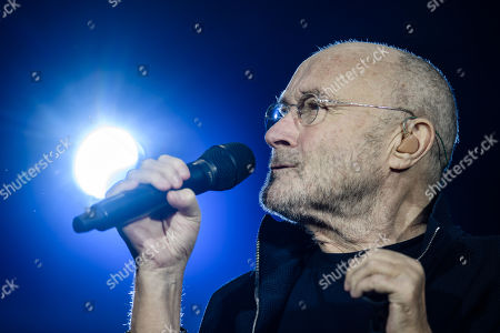 Stock Picture of Phil Collins performs on stage during a concert in Berlin, Germany, 07 June 2019, as part of his 'Not Dead Yet' tour.