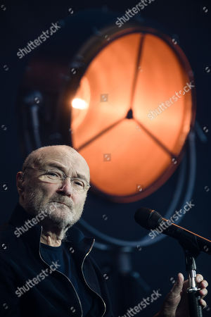 Stock Image of Phil Collins performs on stage during a concert in Berlin, Germany, 07 June 2019, as part of his 'Not Dead Yet' tour.
