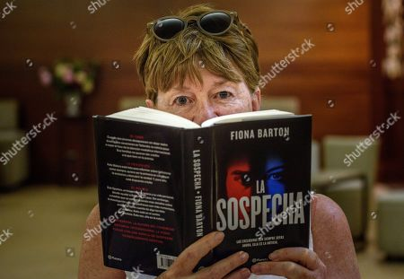 British writer Fiona Barton poses during the presentation of her latest book 'The Suspect' in the framework of the Bilbao Book Fair, in Bilbao, northern Spain, 07 June 2019.