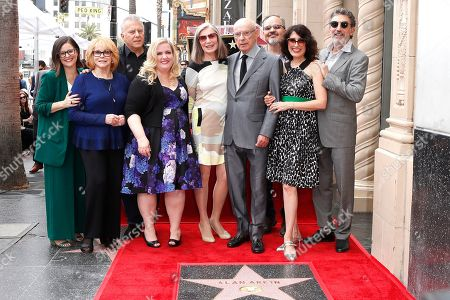 Stock Photo of The Kominski Method cast a guest, Ann-Margret, Paul Reiser, Sarah Baker, Susan Sullivan, Alan Arkin, Guest, Lisa Edelstein and Chuck Lorre at a ceremony honoring Alan Arkin with the 2665th star on the Hollywood Walk of Fame in Hollywood, Los Angeles, California, USA 07 June 2019. The star was dedicated in the Category of Motion Pictures.