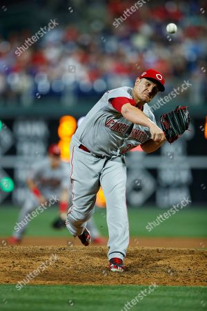 Cincinnati Reds' David Hernandez in action during a baseball game against the Philadelphia Phillies, in Philadelphia. AP Photo/Matt Slocum