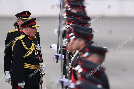 Australian Governor-General Sir Peter Cosgrove inspects the Guard of Honour during the Queen's Birthday Parade for the 'Trooping of the Queen's Colour' at the Royal Military College, Duntroon in Canberra, Australia, 08 June 2019. The parade is the final public appearance in military uniform for the Honourable Sir Peter Cosgrove, AK MC (Retd), Governor-General of Australia, before he retires in June.