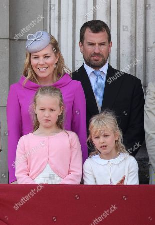 Peter Philips, Autumn Phillips and children Savannah and Isla