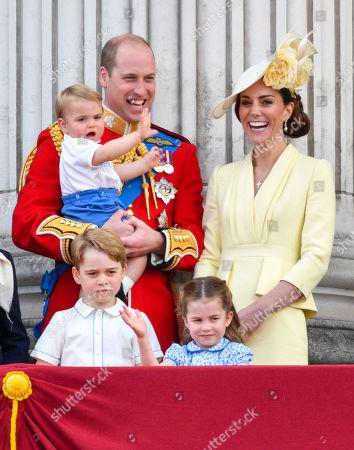 Prince William, Catherine Duchess of Cambridge, Prince Louis, Prince George, Princess Charlotte