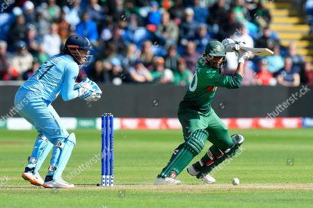 Mohammad Mahmudullah Riyad of Bangladesh batting during the ICC Cricket World Cup 2019 match between England and Bangladesh the Cardiff Wales Stadium at Sophia Gardens, Cardiff