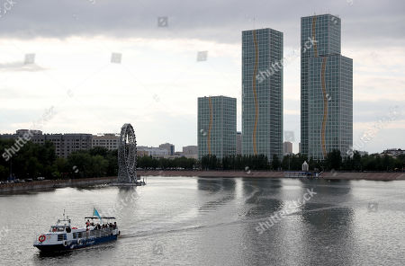 A general view on buildings in the Kazakh capital of Nur-Sultan (formerly known as Astana), Kazakhstan, 08 June 2019. The city, known earlier as Tselinograd, was an agricultural province in the steppe where the former Soviet Union government tried to grow record grain harvests. The former Soviet republic of Kazakhstan chose former Tselinograd as the place for its capital, named it Astana and rebuilt it in an ultra-modern style. In 2019 Astana was renamed in honor of the first President of Kazakhstan Nursultan Nazarbayev.