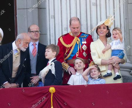 Prince Michael of Kent, Albert Windsor, Prince William, Catherine Duchess of Cambridge, Prince Louis, Prince George, Princess Charlotte