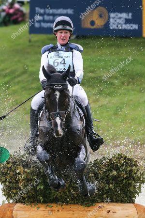 Yacabo Bk ridden by Nicola Wilson in the Equi-Trek CCI-L4* Cross Country during the Bramham International Horse Trials 2019 at Bramham Park, Bramham