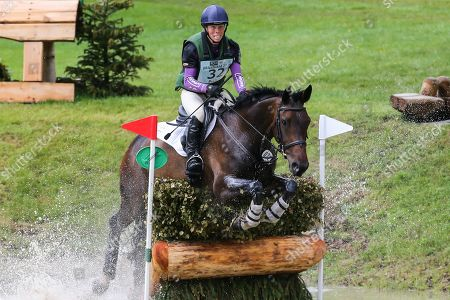 Stock Image of Fallulah ridden by Emily Philp in the Equi-Trek CCI-L4* Cross Country during the Bramham International Horse Trials 2019 at Bramham Park, Bramham