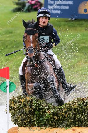 Mr Sneezy ridden by James Avery in the Equi-Trek CCI-L4* Cross Country during the Bramham International Horse Trials 2019 at Bramham Park, Bramham