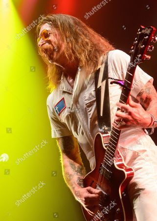 Jesse Hughes of the US rock band Eagles of Death Metal performs on stage at the 'Rock im Park' music festival in Nuremberg, Germany, 08 June 2019. The festival takes place from 07 to 09 June.