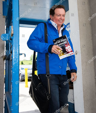 Tyrone vs Donegal. RTE's Marty Morrissey arrives