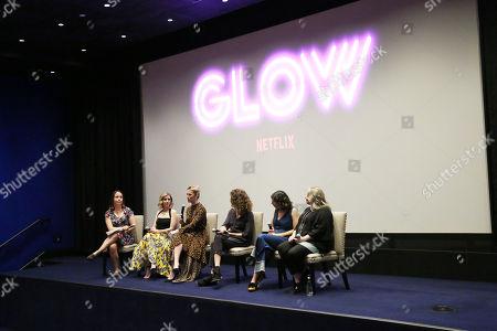 Stock Photo of Kristen Baldwin, Alison Brie, Betty Gilpin, Jennifer Euston, Liz Flahive, Carly Mensch