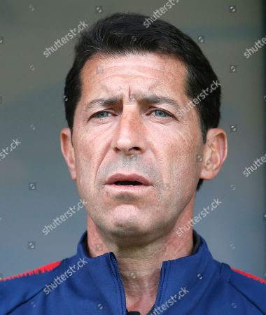 United States coach Tab Ramos looks out prior to the quarter final match between USA and Ecuador at the U20 World Cup soccer in Gdynia, Poland