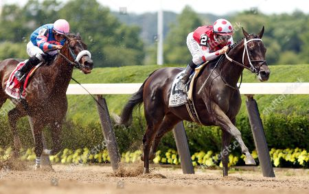 MIDNIGHT BISOU (Mike Smith) wins The Ogden Phipps Stakes Belmont Park USA