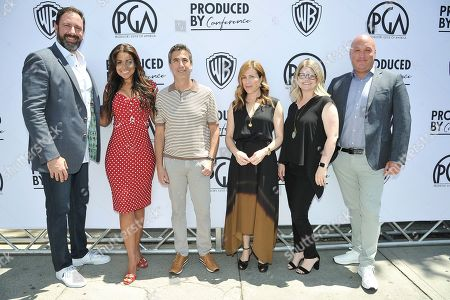 Peter Micelli, Tracey Edmonds, Michael Thorn, Amy Israel, Jenny Groom, Nick Pepper. Peter Micelli, from left, Tracey Edmonds, Michael Thorn, Amy Israel, Jenny Groom and Nick Pepper attend the Produced By Conference 2019, in Burbank, Calif